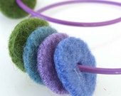Lavender Hoop earring with recycled sweater felt