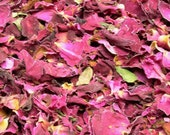 Organic Dried Red Rose Petals - One Ounce