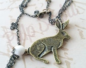 Some Bunny Loves You Brass Necklace - pulpsushi