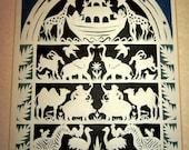 Noahs Ark Scherenschnitte Paper Cutting