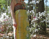 Tribal dance recycled tie dyed summer festival sun dress