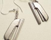 Stapler dangle earrings
