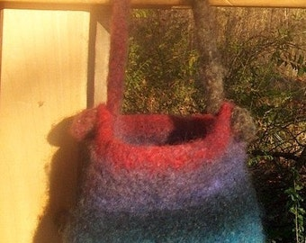 Hand Knit and Felted Purse