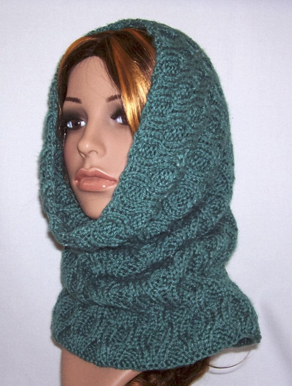 Hooded Cowl Knit Pattern : Honeycomb Cowl / Hood Knitting Pattern PDF by chezpascale on Etsy
