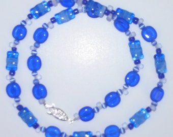 Bluesy Blue Beaded Necklace