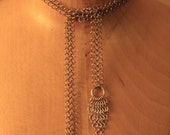 chic & understated steel chainmaille  lariat or belt