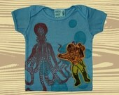 Infant Hand Dyed Block Printed Sea Diver S\/S T-Shirt