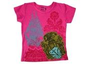 Block Printed Kids T-Shirt - Ship Anchor - Toddler Cap Sleeve - Sale
