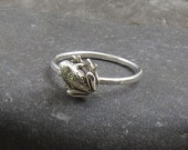 Sterling Silver Frog Stacking Ring