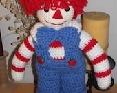 Crocheted Rag Doll Andy