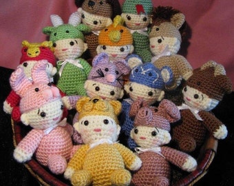 Crocheted Chinese Zodiac Babies