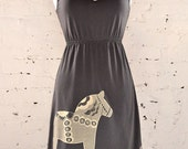 Dala Horse Dress in Asphalt Gray Size XL
