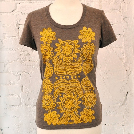 Mexicali, Graphic T Shirt, Hand Screen Printed, Tri Blend Tee by Maryink