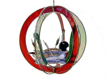 Duck Stained Glass Suncatcher