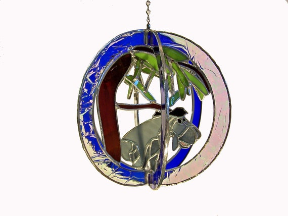 Eeyore Stained Glass Suncatcher