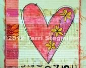 Mini Quilt - Heart 2