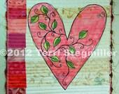 Mini Quilt - Heart 4