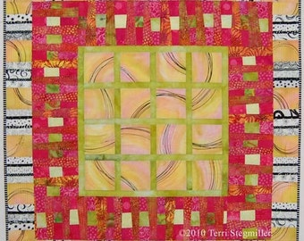 Melon Slices - Art Quilt