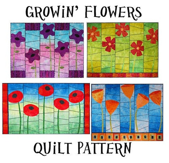 Growin' Flowers Art Quilt Pattern