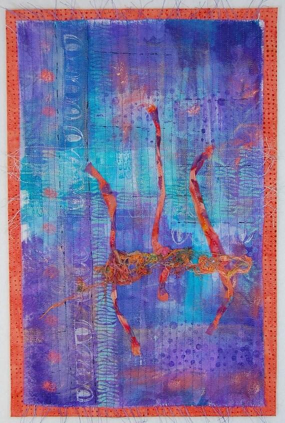 PRICE SLASH Purple Sunset - Abstract Art Quilt