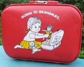 Lets Go to Grandmas Little Girl's Suitcase,Overnnight Bag