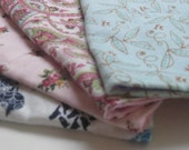 Set of 4 Baby Girl Birp Cloths