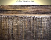 1/2 PRICE This Weekend Abstract art Painting Impasto Palette Knife Textured  36X24 Heavily Textured