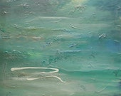 Giclee Luster Print From Original Abstract Seascape Painting Pearls of Tranquility
