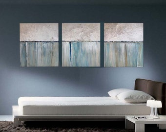 xxL  Abstract  Art Paintings On Canvas MADE TO ORDER 66 X 28 Reflections of Yesterday Series