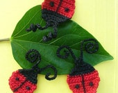 Lady Bug Appliques, Hand Crochet - Choose 2 of them