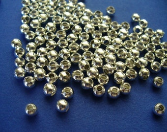 US Shipper - 6mm Silver Plated Spacer Beads - 25, 50 or 100