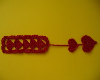 Bookmark Of Love, Hand Crochet - Your Choice of Colors
