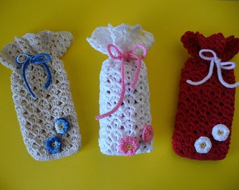 Decorative Baggies, Hand Crochet - Choose your Colors