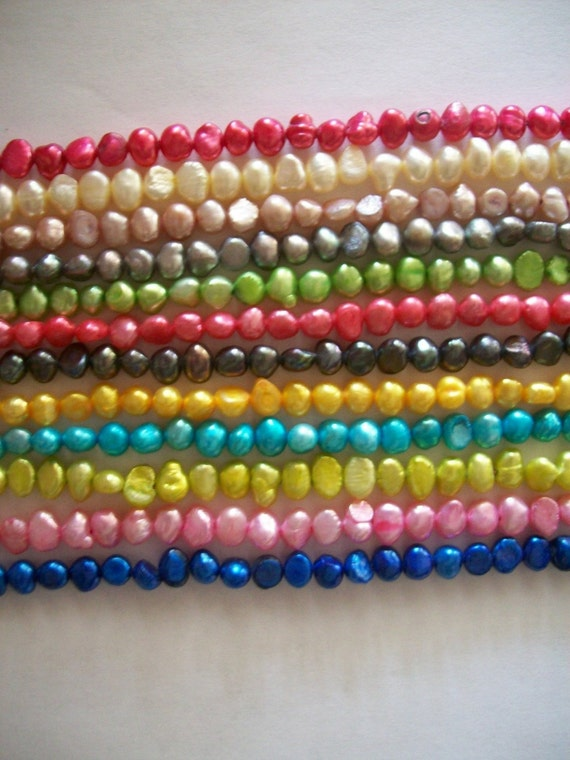 US Shipper - Fresh Water Pearls - 5 mm to 6 mm - Choose your colors - 50 or 100