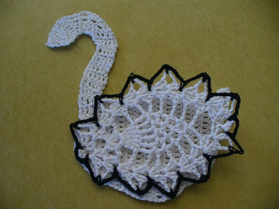 3D Swan Applique, Hand Crochet - Choose Your Colors
