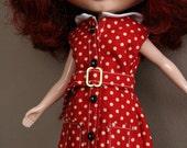 Beloved Blythe Front Button Red Dress