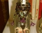 Mixed Media Art, Prayer Bottle, Free Shipping USA only