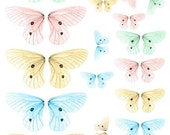 Pastel Fairy Wings No. 1 - Digital Collage Sheet - See Storefront for Monthly Coupon Code