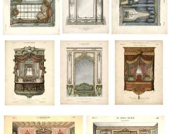 Palace Interior Design - Digital Collage Sheet - Instant Download