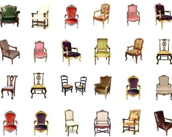 Please Have A Seat No. 1 - Digital Collage Sheet  - Instant Download