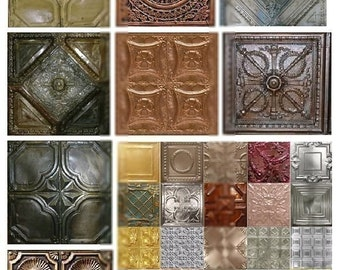 Tin Ceiling - Digital Collage Sheet - Instant Download