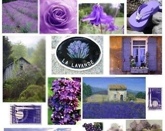 Lavander Royale No. 1 - Digital Collage Sheet - Instant Download