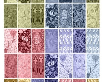 Art Nouveau Domino - 1x2 - Digital Collage Sheet - Instant Download