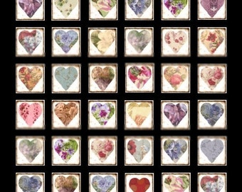 Heartbeat Collection - 1x1 - Digital Collage Sheet - Instant Download