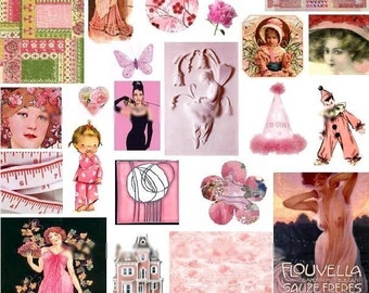 In the Pink No. 4 - Digital Collage Sheet - Instant Download