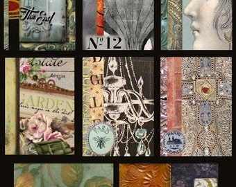 Altered Art No. 5  - ACEO Size - Digital Collage Sheet - Instant Download