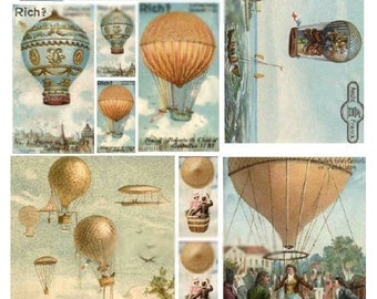 Up Up and Away - Digital Collage Sheet - Instant Download
