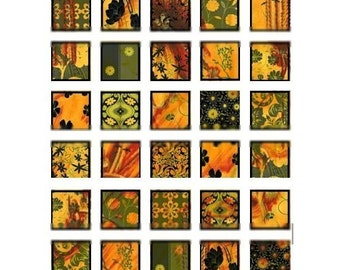 Autumn  - 1x1 and .75x.83 inch Scrabble Images - Digital Collage Sheet - Instant Download