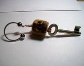 Skeleton Key Bone key ring