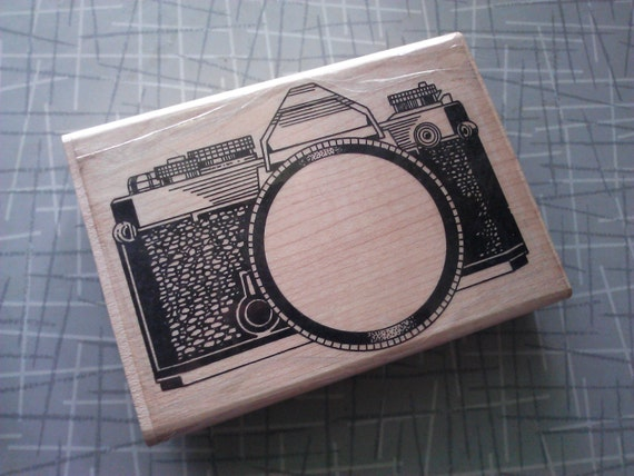Large Camera Rubber Stamp